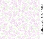 pastel seamless pattern  floral ... | Shutterstock .eps vector #335011808