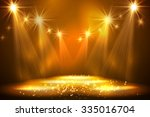 spotlights on stage with smoke  ...   Shutterstock .eps vector #335016704