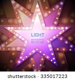 stars retro light banner....