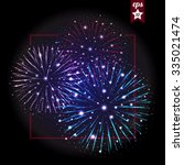 festive fireworks. holidays... | Shutterstock .eps vector #335021474