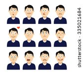 avatars with emotions face. men'... | Shutterstock .eps vector #335021684