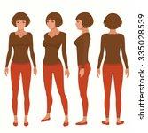 vector woman cartoon character  ... | Shutterstock .eps vector #335028539