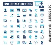 online marketing  digital... | Shutterstock .eps vector #335033630