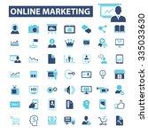 online marketing  digital...   Shutterstock .eps vector #335033630