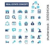 real estate  agent  agency ... | Shutterstock .eps vector #335034146