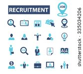 recruitment  headhunter  job ... | Shutterstock .eps vector #335034206
