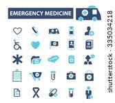 emergency medicine  icons ... | Shutterstock .eps vector #335034218