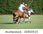 Small photo of SARATOGA SPRINGS - JULY 10: R. Kohn leads the attack during the opening match of the season at Saratoga Polo Club July 10, 2009 in Saratoga Springs, NY.
