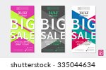 vector colorful promotion... | Shutterstock .eps vector #335044634