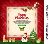 merry christmas holiday card... | Shutterstock .eps vector #335054039