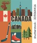Canada Background Icon Set