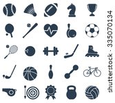 set black icons sports. vector...