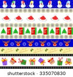 set of seamless new year's and... | Shutterstock . vector #335070830