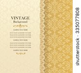 vintage background  antique... | Shutterstock .eps vector #335077808