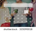 calender make appointment...   Shutterstock . vector #335090018