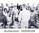 students lecture room classroom ... | Shutterstock . vector #335090108