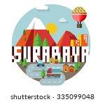 surabaya beautiful city in...   Shutterstock .eps vector #335099048