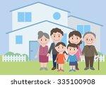 three generation family  vector ... | Shutterstock .eps vector #335100908