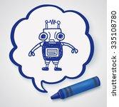 doodle robot | Shutterstock .eps vector #335108780