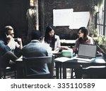 business team corporate... | Shutterstock . vector #335110589