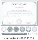 gray horizontally certificate... | Shutterstock .eps vector #335111819