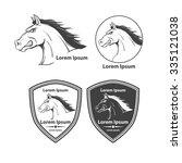 horse for logo  american... | Shutterstock .eps vector #335121038