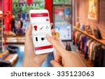 smart phone online shopping in... | Shutterstock . vector #335123063