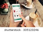 smart phone online shopping in... | Shutterstock . vector #335123246
