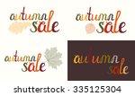 set of autumn sale inscription... | Shutterstock .eps vector #335125304