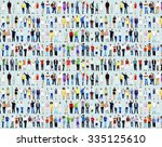 multiethnic casual people... | Shutterstock . vector #335125610