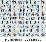 multiethnic casual people... | Shutterstock . vector #335125610