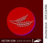 wheat spike ears icon | Shutterstock .eps vector #335126486