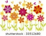 flower bed | Shutterstock .eps vector #33512680