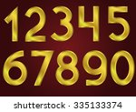 golden numbers on the red...   Shutterstock . vector #335133374