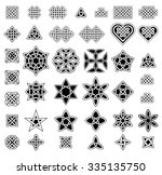 Stock vector  celtic style knots collection vector illustration 335135750