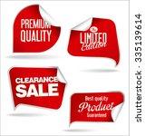 vintage style promotional sale... | Shutterstock .eps vector #335139614
