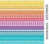 seamless vector tribal texture. ... | Shutterstock .eps vector #335140634