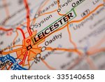 map photography  leicester city ... | Shutterstock . vector #335140658