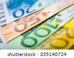 euro money  closeup of banknotes | Shutterstock . vector #335140724