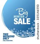 big winter sale. vector... | Shutterstock .eps vector #335146550