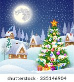 new year and christmas winter... | Shutterstock . vector #335146904