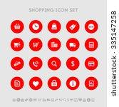 shopping flat design icons  on...