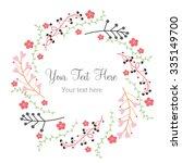 vector illustration of floral... | Shutterstock .eps vector #335149700