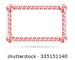 red candy cane frame isolated... | Shutterstock .eps vector #335151140