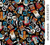 seamless pattern  design ... | Shutterstock .eps vector #335153573