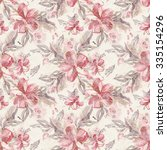 watercolor flowers seamless... | Shutterstock . vector #335154296
