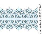 vector ornate seamless border... | Shutterstock .eps vector #335157968