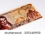 100 drahmas bank note. national ... | Shutterstock . vector #335160950