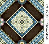 tiles seamless pattern wooden... | Shutterstock .eps vector #335161160