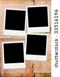 vintage style photo album page | Shutterstock . vector #33516196